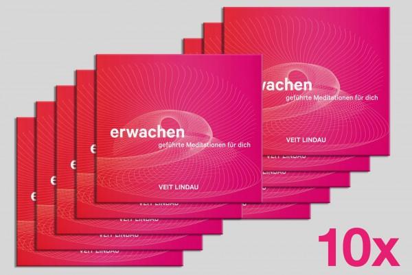 10er Packung ● Meditations CD ● Erwachen. Geführte Meditationen mit Veit Lindau - (mp3 CD)