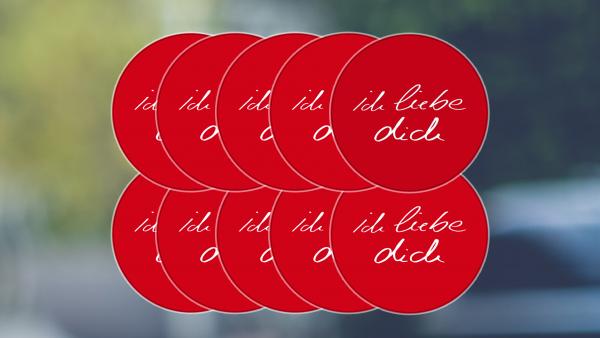 Aufkleber: ichliebedich | (groß) rot (10er Packung)