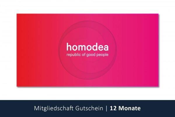 homodea Gutschein | Jahresmitgliedschaft