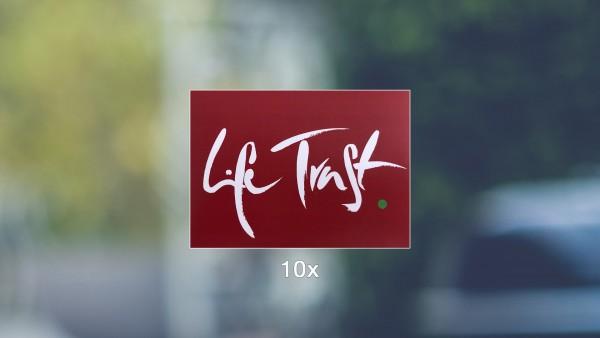 Aufkleber: Life Trust | rot (10er Packung)