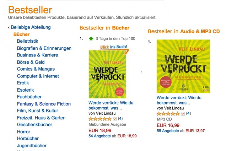 Bestseller bei Amazon